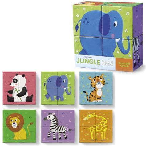 Puzzle Block Animal Geo Animal jungle animals mini puzzle blocks 4 pc set educational toys planet