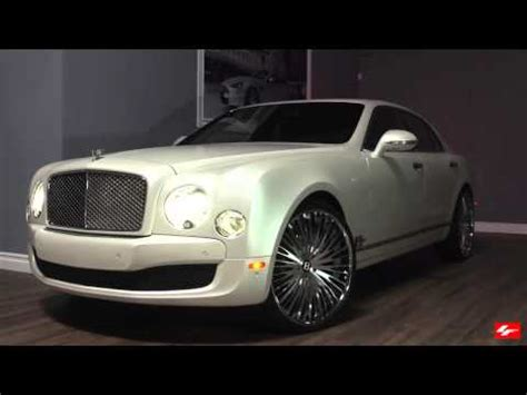 bentley mulsanne matte matte white bentley mulsanne on 24 inch lexani forged
