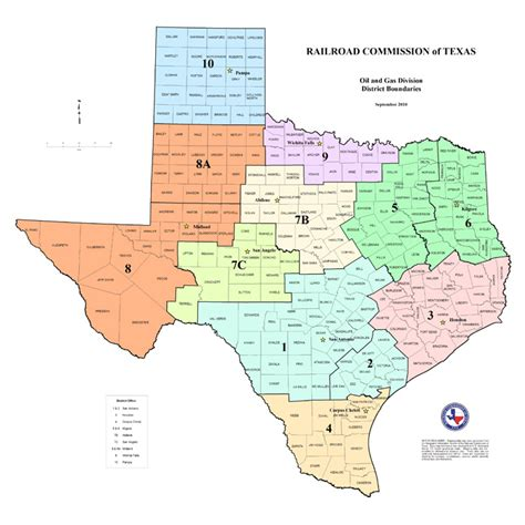 texas district map texas rrc special map products available for purchase