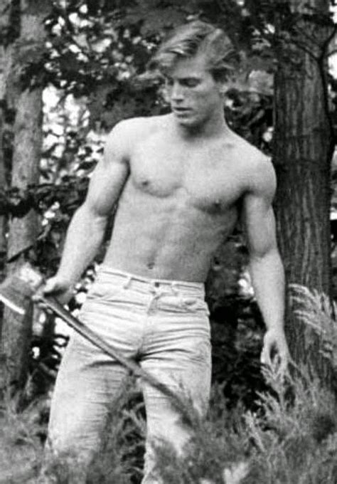 Michael Swan Onetime Star Of As Theworld Turns Is Showing Wood In This Suggestive Pose Part Of