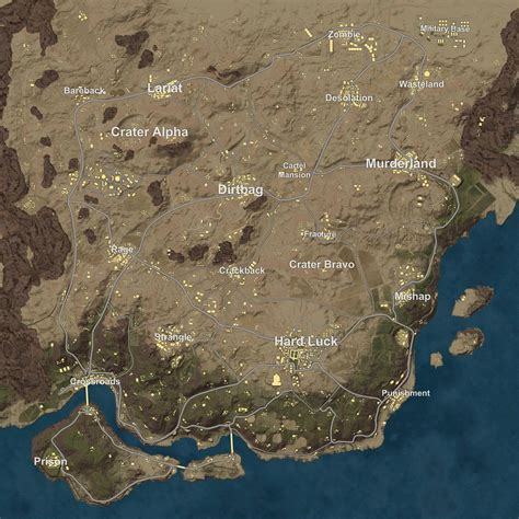 pubg map pubg s latest test build reveals a draft of the new desert