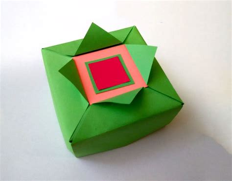 Easy Origami Gift Box - 17 best images about origami boxes and dishes 2 on
