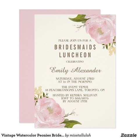 wedding lunch invitation sle 17 best ideas about bridal luncheon invitations on