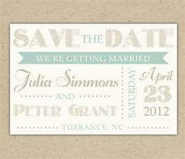 Free Vintage Save The Date Templates by Save The Date Custom Printable Template Vintage By