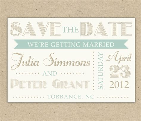 vintage save the date template save the date custom printable template vintage by