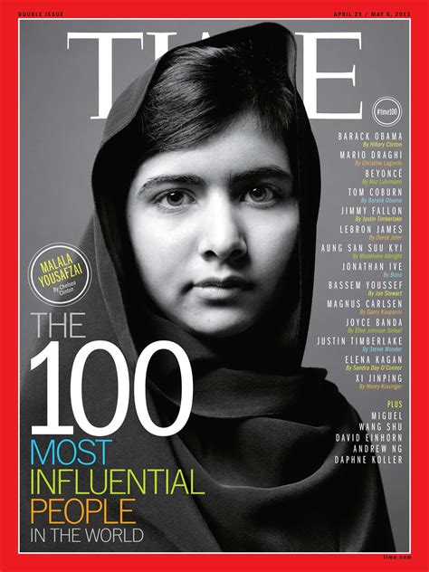 time 100 most influential people meeting malala her cause comes first time