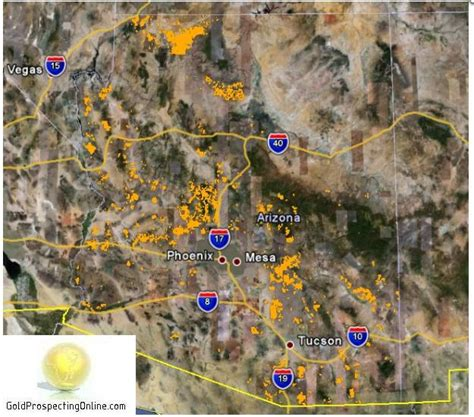 Find In Arizona Arizona Gold Prospecting Equipment Tips Gold Maps