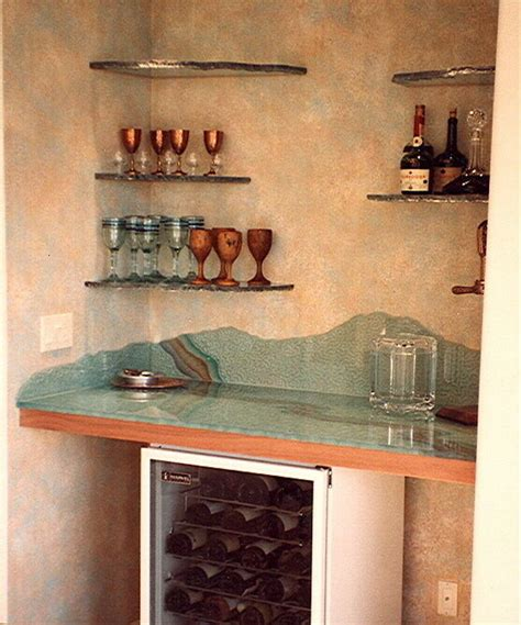 sans soucie art glass custom glass bar top shelves l