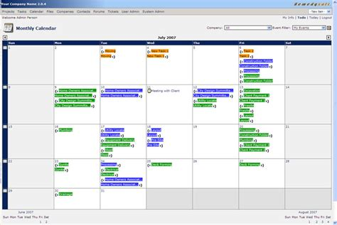 Project Management Calendar Project Management Software Smooth Projects