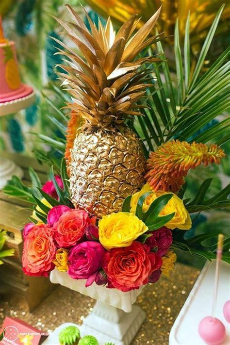 pineapple centerpieces ideas 40 affordable and creative hawaiian decoration ideas bored
