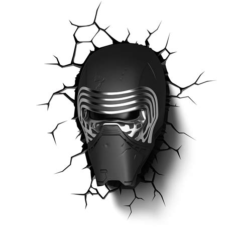 kylo ren helmet coloring page star wars 3d wall lights merchoid
