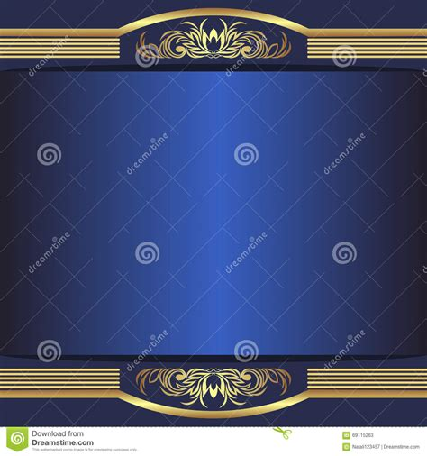 vector luxury banner border royalty free stock photos luxury blue background with elegant golden borders and