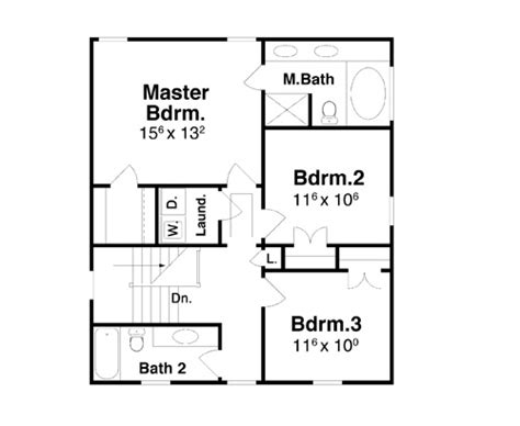 2nd floor plan design bartlett 7014 3 bedrooms and 2 baths the house designers