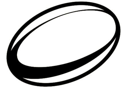 Rugby Outline by Clipart Rugby League Pencil And In Color Clipart Rugby League