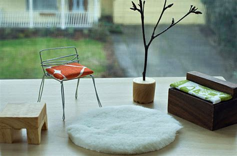 doll house chairs design in miniature modern dollhouse furniture ideas