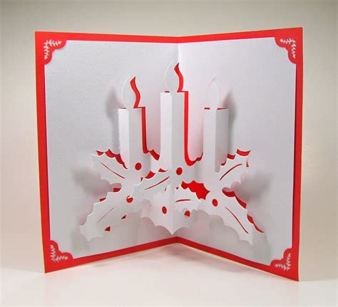 Handmade Pop Up Greeting Cards - candles 3d pop up greeting card home d 233 cor handmade