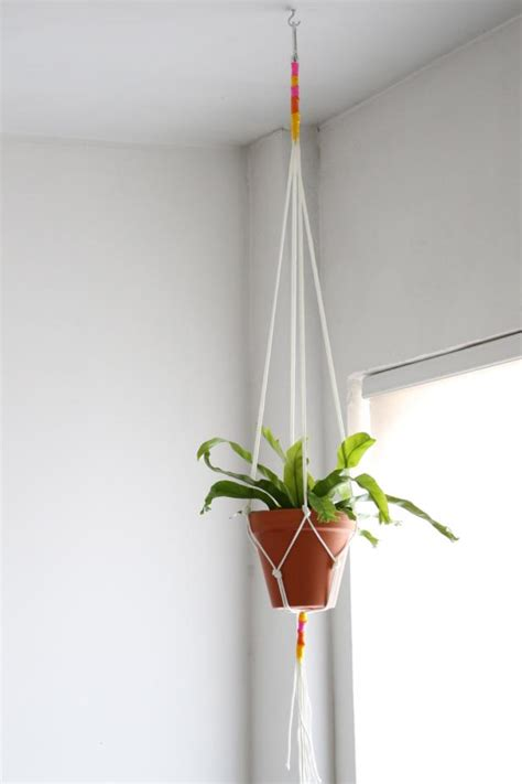 How To Make A Simple Macrame Plant Hanger - diy macrame plant hanger hgtv