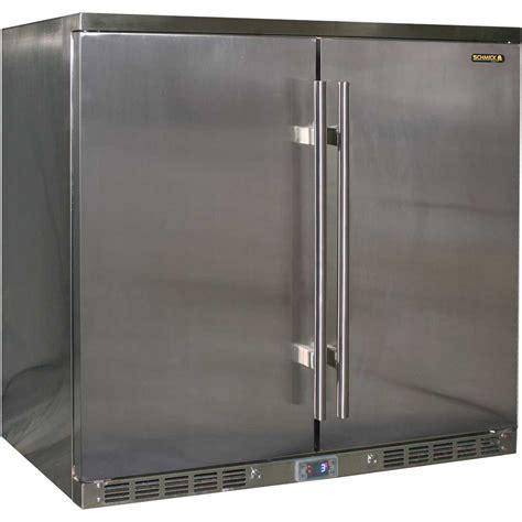 stainless steel under bench fridge all stainless steel alfresco 2 door bar fridge