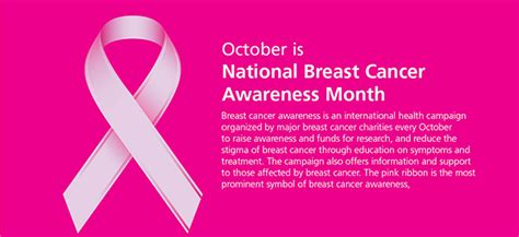 October Is Breast Cancer Awareness Month 3 by Emn Breast Cancer Awareness Rock 09 Oct 16 Oct