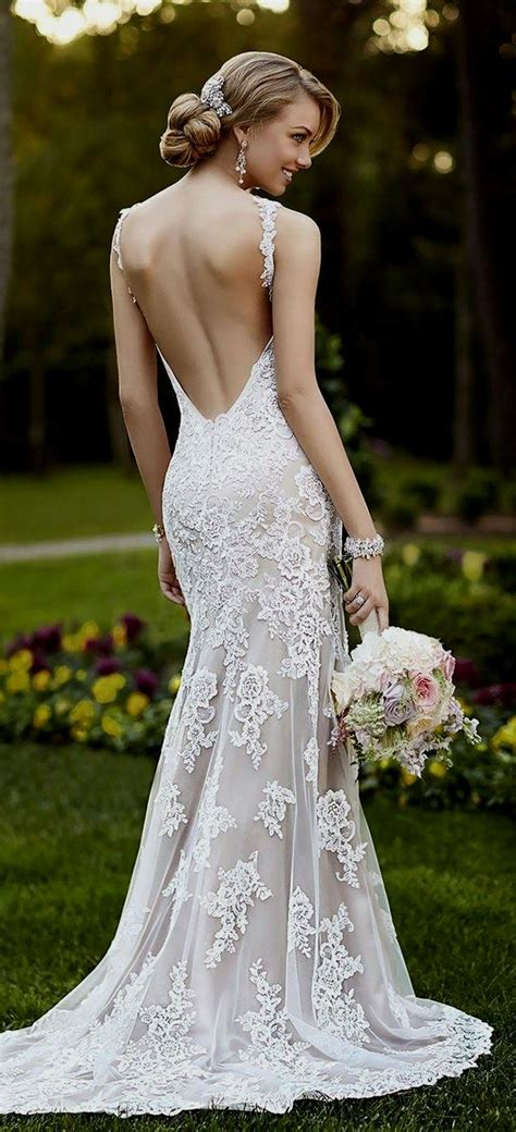 lace wedding dress open back Naf Dresses