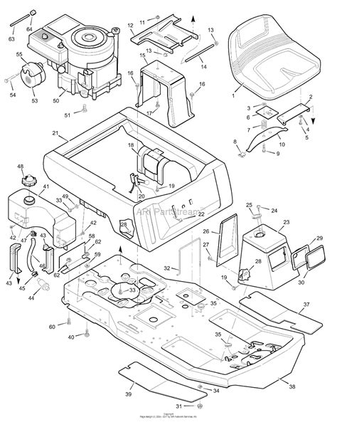 murray xa rear engine rider  parts diagram  body chassis