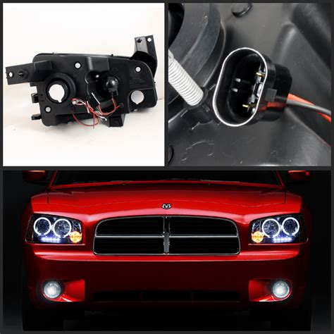 dodge charger smoked lights for smoked 06 10 dodge charger halo led projector