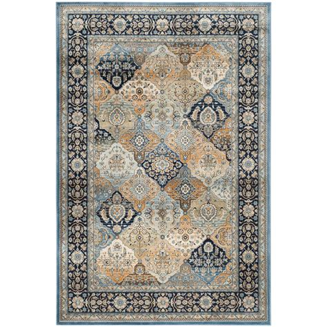 4 x 5 area rugs safavieh garden multi navy 4 ft x 5 ft 7 in area rug peg609n 4 the home depot