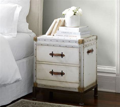 trunk style bedside tables ludlow white distressed bedside table