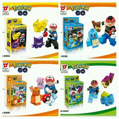 Lego Lele 79115abcd 1 4 Set Chima 3 set go mini figures pikachu pokeball building