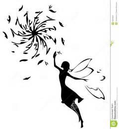 fairy silhouette stock illustration image 40245525