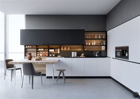 kitchen design black 40 beautiful black and white kitchen designs gosiadesign com