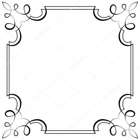 disegno cornici cornice quadrata di vettore elemento per il disegno