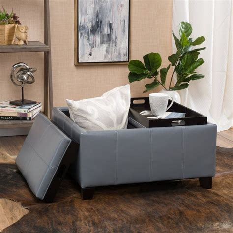 Gray Leather Ottoman Coffee Table 25 Best Ideas About Ottoman Coffee Tables On