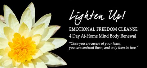 Emotions During Detox by Lighten Up Emotional Freedom Cleanse Douillard S