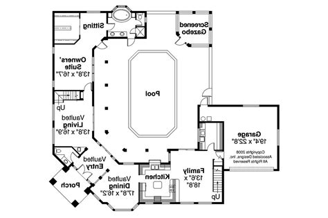 southwest style home plans split bedroom house plans one floor