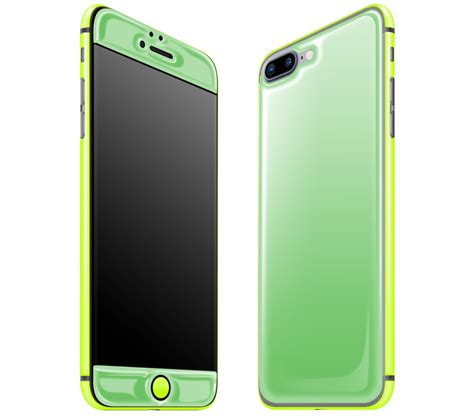iphone 7 8 plus green neon yellow glow in the gel skins covers and wraps adaptation