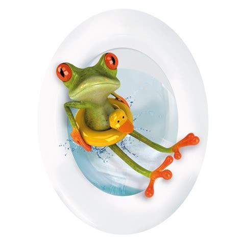 fliesenaufkleber toilette wc aufkleber frosch mit rettungsring