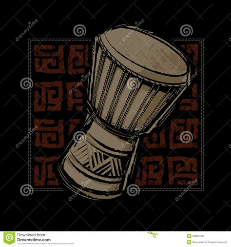 drum pattern dance african djembe drum stock vector image of cilture