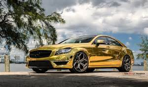 Golden Mercedes Gold Mercedes Cls63 Amg By Mc Customs