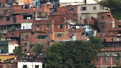 view of apartment buildings in the poor area of brazil stock footage 6514259