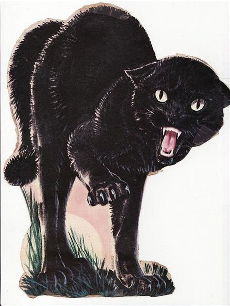hiss black cat   cat drawing kitty cat art