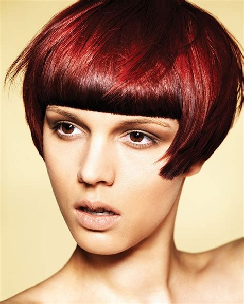 bob with fringe as hair color ideas for