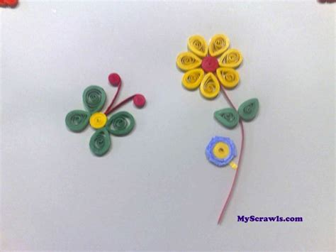 quilling pinterest tutorial flowers quilled flower and a butterfly wouldn t this be adorable