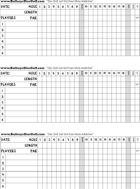 golf scorecard templates free premium