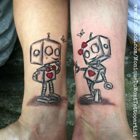 missteriousfrommars partnertattoo robot love scribble