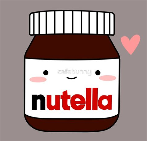 Cafe Home Decor by Quot Cute Nutella Jar Quot Art Prints By Cafebunny Redbubble