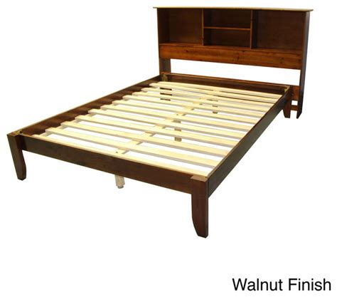Platform Bed With Bookcase Headboard by Scandinavia King Size Solid Wood Platform Bed With