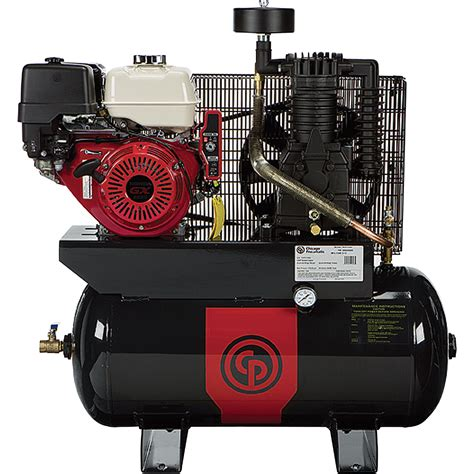 free shipping chicago pneumatic gas powered air compressor 11 hp 30 gallon model rcp