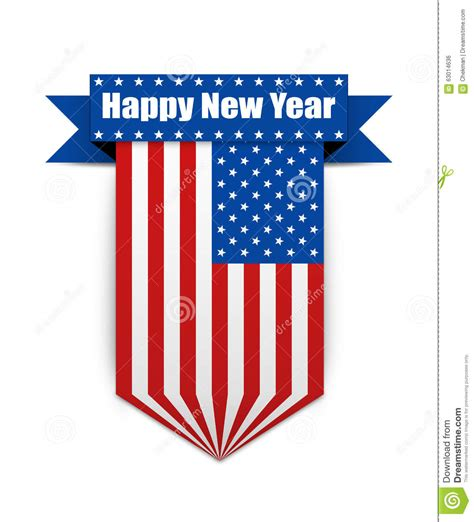 new year flag color usa flag on the new year stock illustration image