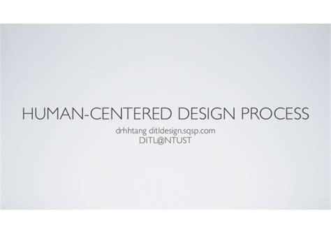 Human Centered Design Mba Program by Human Centered Design Process
